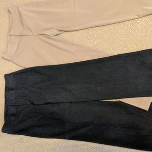 2 pairs Banana Republic wide leg dress pants 10
